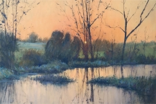 Evening at the reed bed  -  20x30