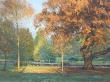 Autumn, Grove Park, Carshalton  -  12x16