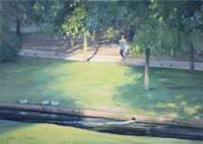 Summer run, Grove Park, Carshalton  -  10x14
