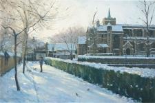 Winter morning, Carshalton  -  16x24