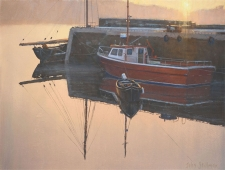 Morning reflections, Roundstone Harbour  -  12x16
