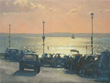 Blinding light, Cowes, IOW  -  6x8