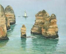 Coastal rocks, Ponte da Piedade, Algarve  -  10x12
