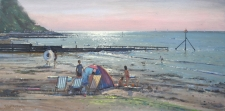 Evening light, Colwell Bay, IOW - 12x24