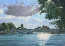 Brilliant light, Kew Bridge  -  10x14