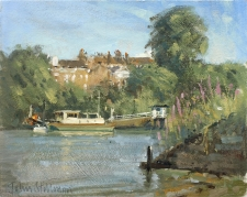 By the river, Richmond  -  8x10