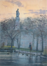 Dusk, St.James Park, London  -  14x10