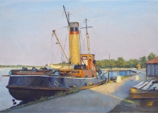 Old steam tug, Maldon  -  10x14