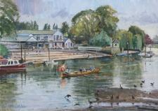 River life, Twickenham -  10x14