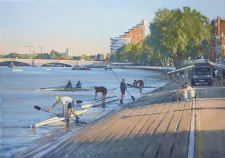 Rowers at Putney  -  14x20