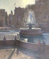 The fountain, Trafalgar Square  -  12x10