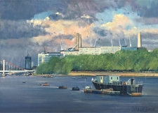 Under construction, Battersea  -  10x14